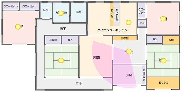 VRツアーは独自に作成したフロアーマップに使用可能