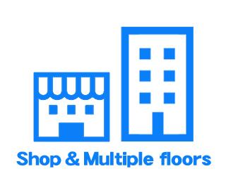 地上の店舗・複数階の建物のVRに対応したシステム