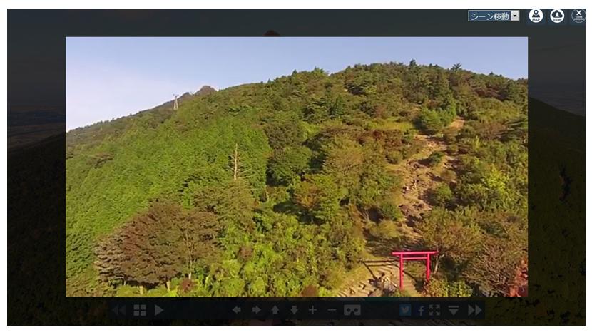 埋め込まれた動画の再生イメージ